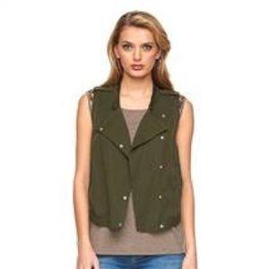Gently worn olive green vest